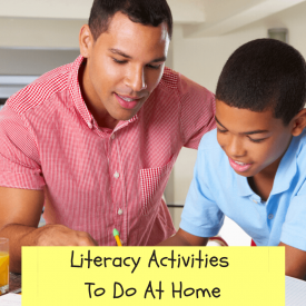 Literacy Activities To Do At Home